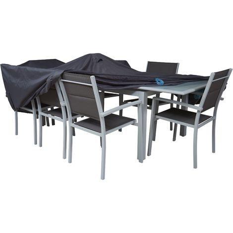 כיסוי לשולחן גינה וכסאות אורך 240 סמ
