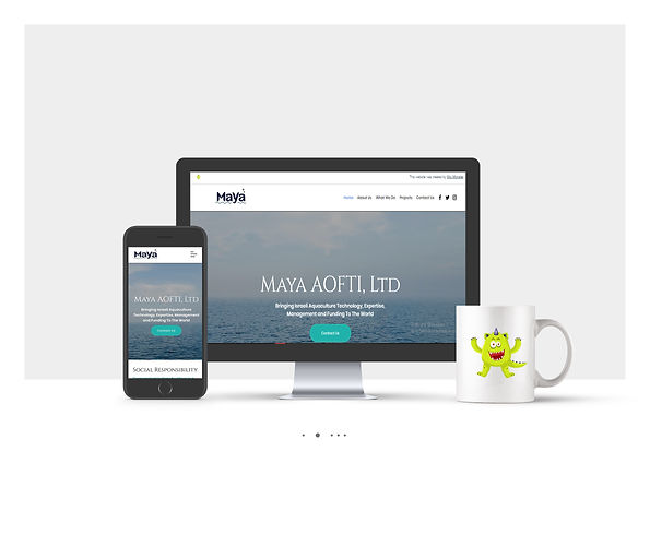 אתר Wix תדמיתי עבור Maya AOFAI
