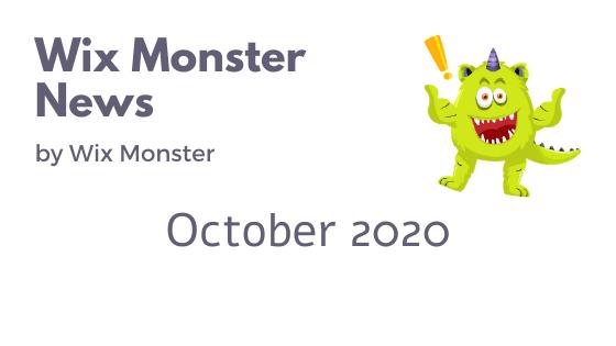 מה חדש בוויקס אוקטובר 2020