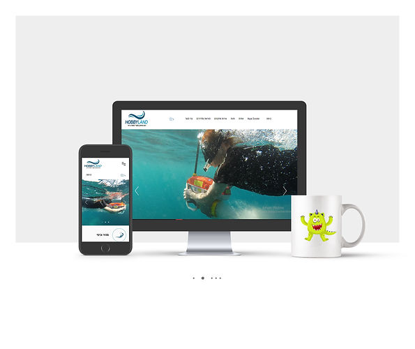 אתר חנות Wix למכירת סקוטר ימי