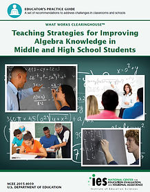 Teaching Strategies for Improving Algebra Knowledge in Middle and High School Students