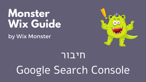 חיבור Google Search Console