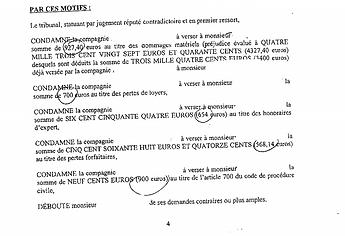 MULTIRISQUE IMMEUBLE-PROPRIÉTAIRE NON-OCCUPANT-DÉGÂTS DES EAUX-LOCAL COMMERCIAL-EXPERTISE-INTERCALAIRE-TVA-HONORAIRES D'EXPERTS-PERTES INDIRECTES-PERTE DES LOYERS-EXÉCUTION PROVISOIRE