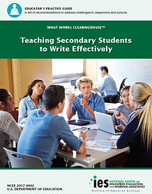 Teaching Secondary Students to Write Effectively