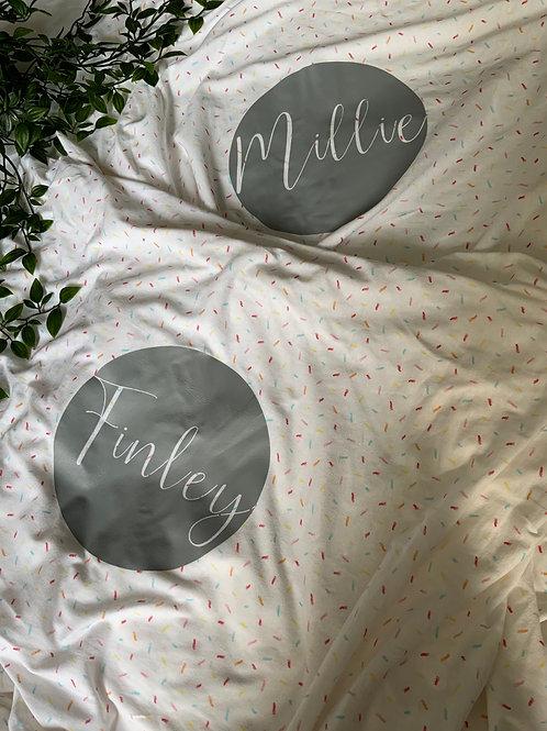 Confetti sheet