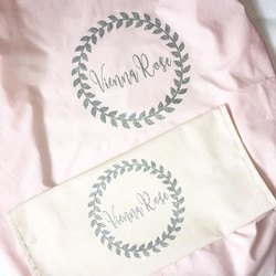•_Fitted cot sheet and personalised cush