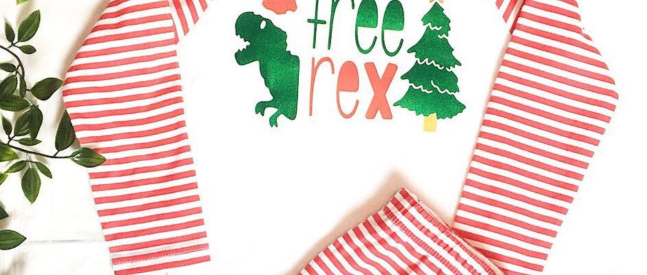 Christmas Dinosaur Pyjamas