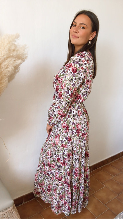 Robe longue Judy mauve