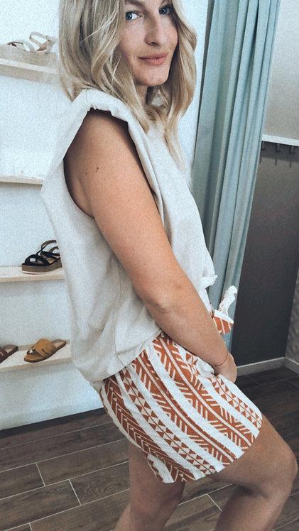 T-shirt épaulettes beige