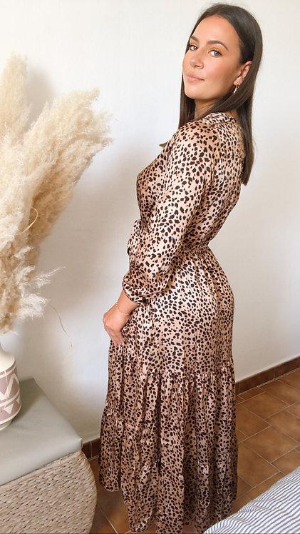 Robe longue Judy léopard