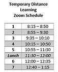 Crookston High School Temporary Distance Learning Zoom Schedule