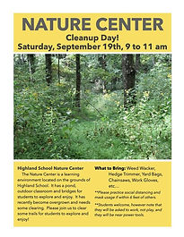 Nature Center Cleanup Day!