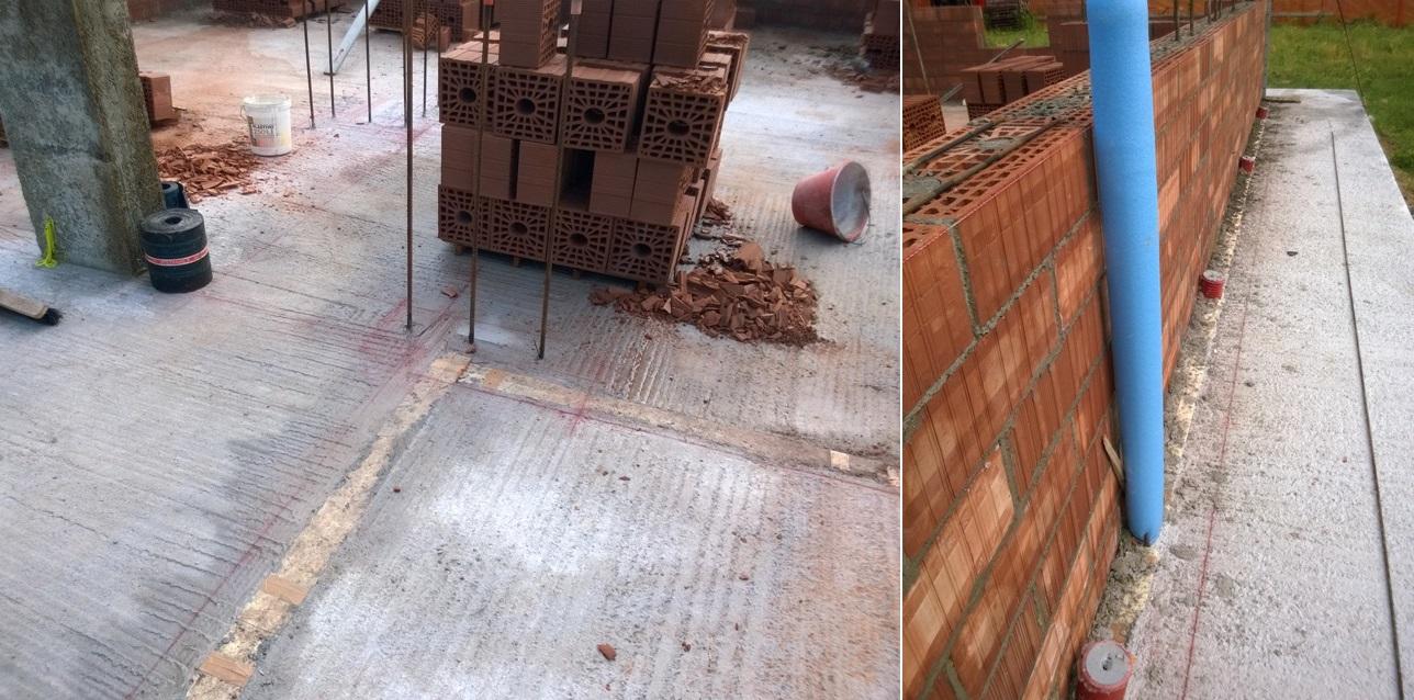 taglio termico platea di fondazione