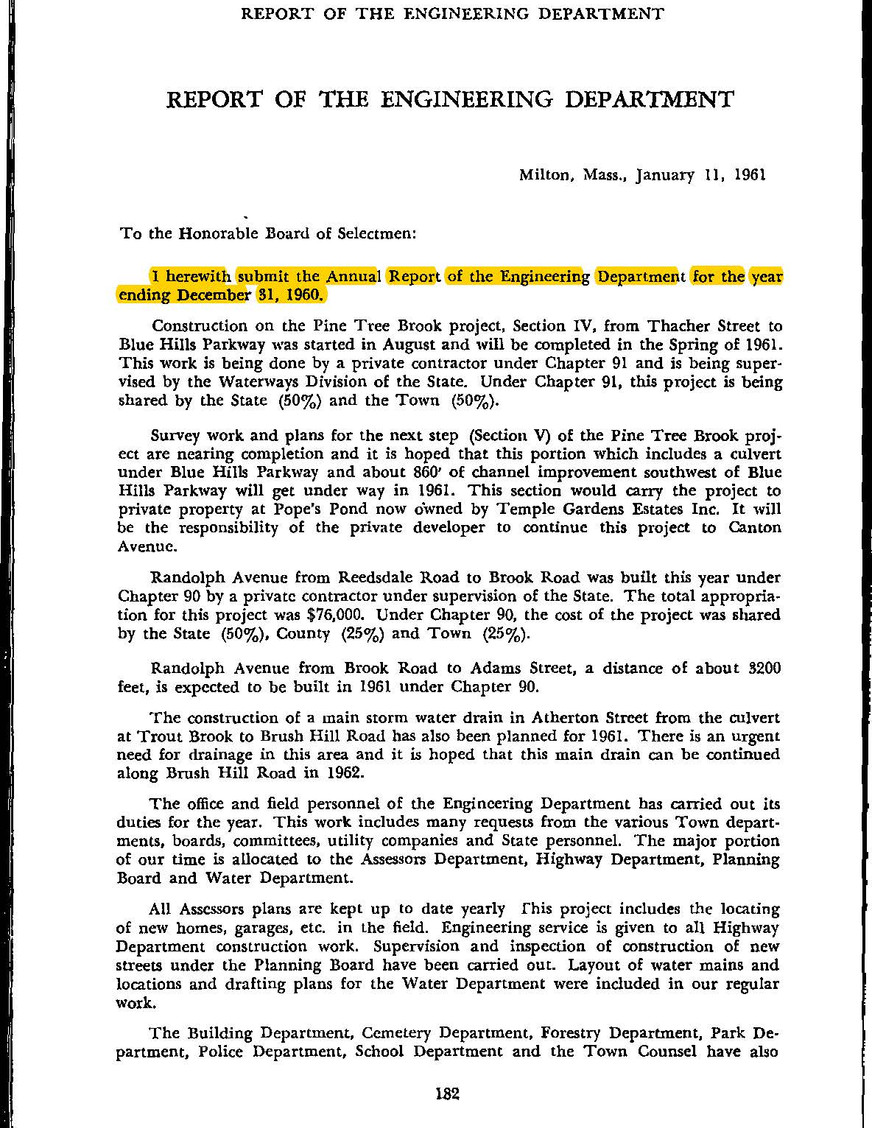 Annual Report of 1960