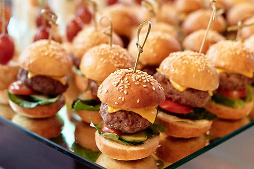 Mini burgers frais artisanaux