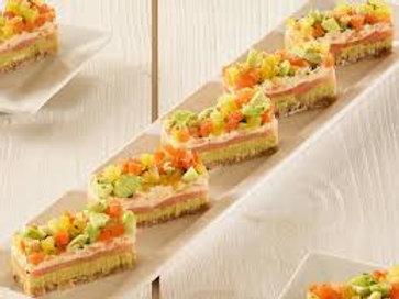 Mini opéra saumon & légumes 64 pièces