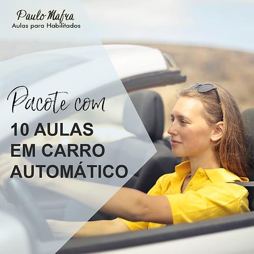 10 Aulas no Carro Automático