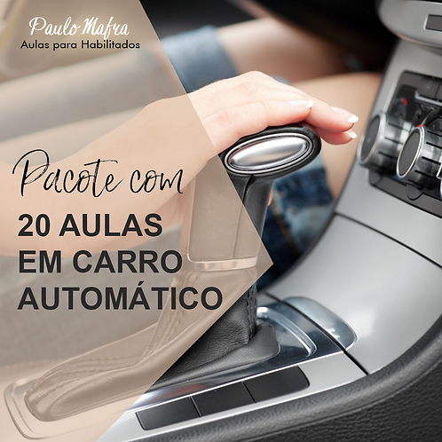 20 Aulas no Carro Automático