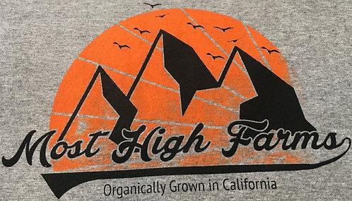 Youth (Women's) T-Shirt - Gray, Orange & Black