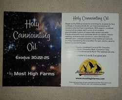 #mosthighfarms #topical #holycannointingoil #emeraldcup  #holyanointingoil #exodus30_22-25