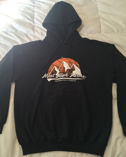 Men's Hoodie - Black, Orange & White