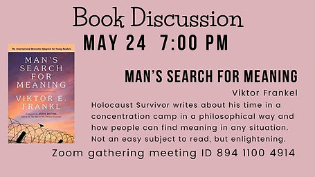 May Book Discussion
