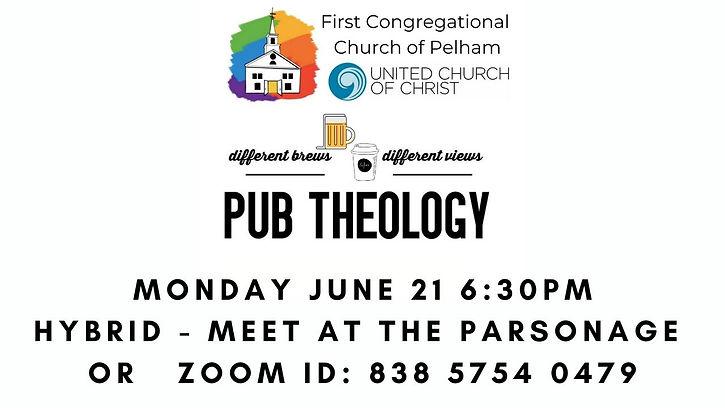 June Pub Theology