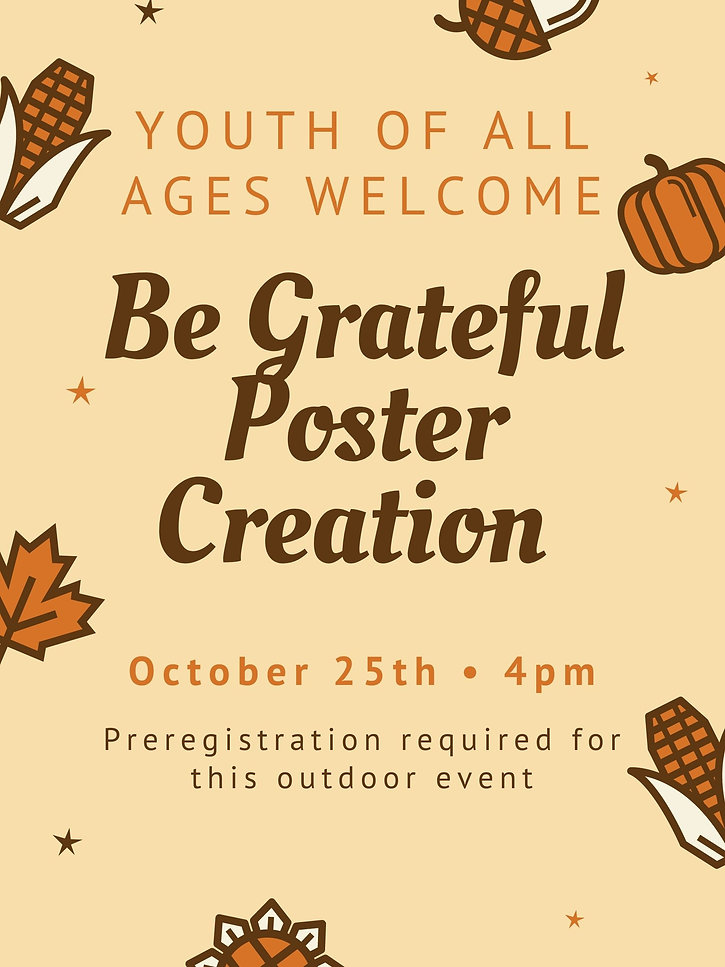 Being Grateful Poster Creation Family Event