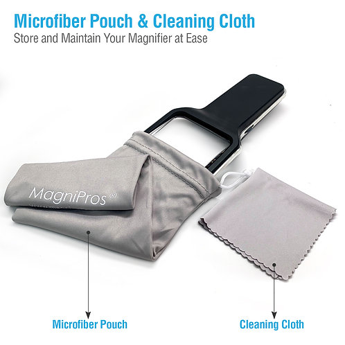 Storage Pouch and Cleaning Cloth