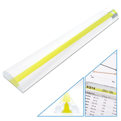 2X Magnifying Bar Magnifier Ruler with Guide Line