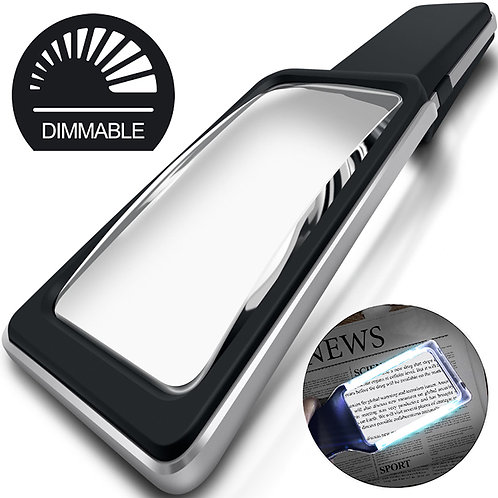 3X(300%) Magnifying Glass with 10 Anti-Glare Dimmable LEDs
