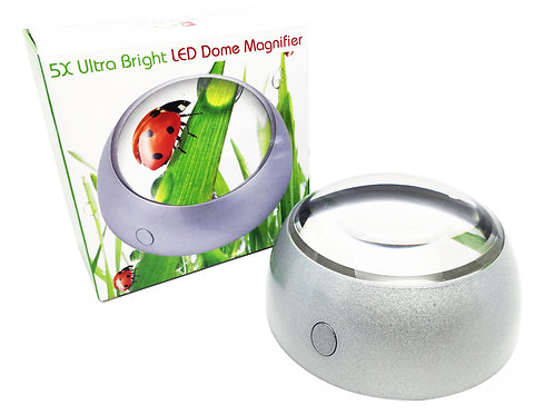 5X Hands-Free Dome Magnifier