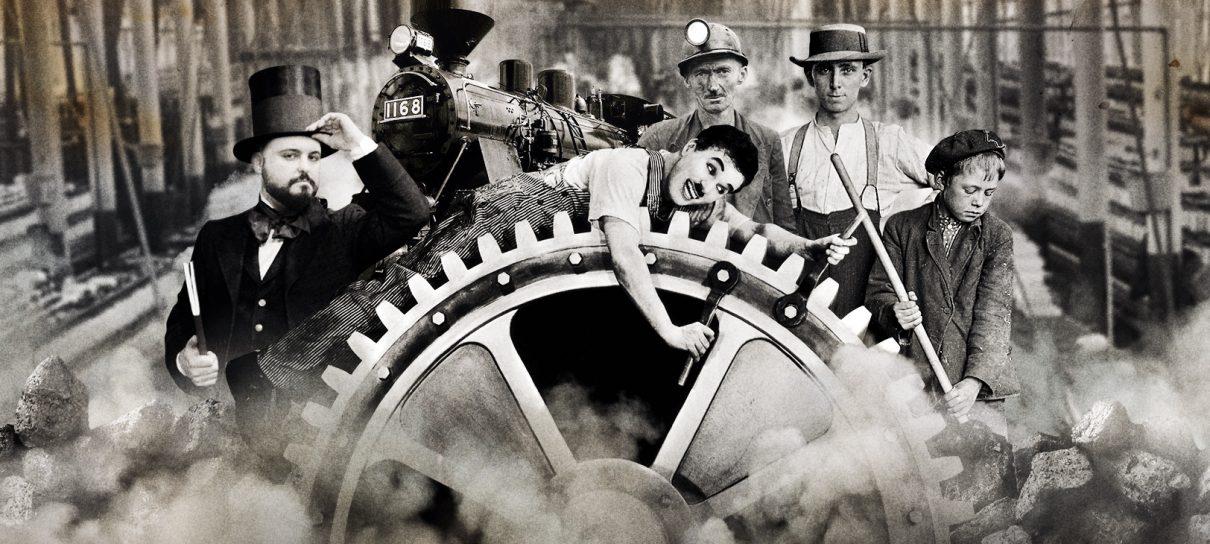 "Charles Chaplin, ""Tempos Modernos"", 1936."