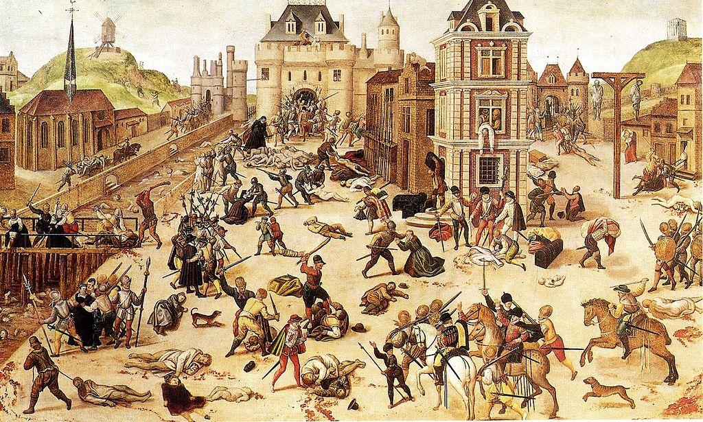 O massacre de São Bartolomeu, François Dubois, 1572.