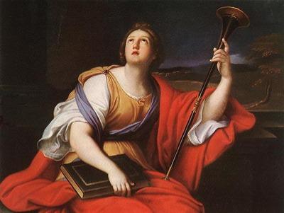 Clio, por Pierre Mignard, século XVII.