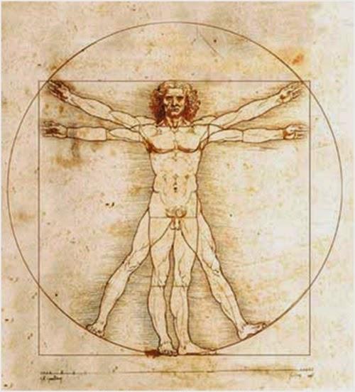 Homem Vitruviano, Leonardo da Vinci, 1490.