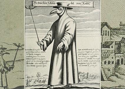 Médico da peste, Paul Fürst, 1656.