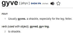 Definition of gyve