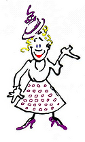 Woman cartoon character introducing Totally Literate.