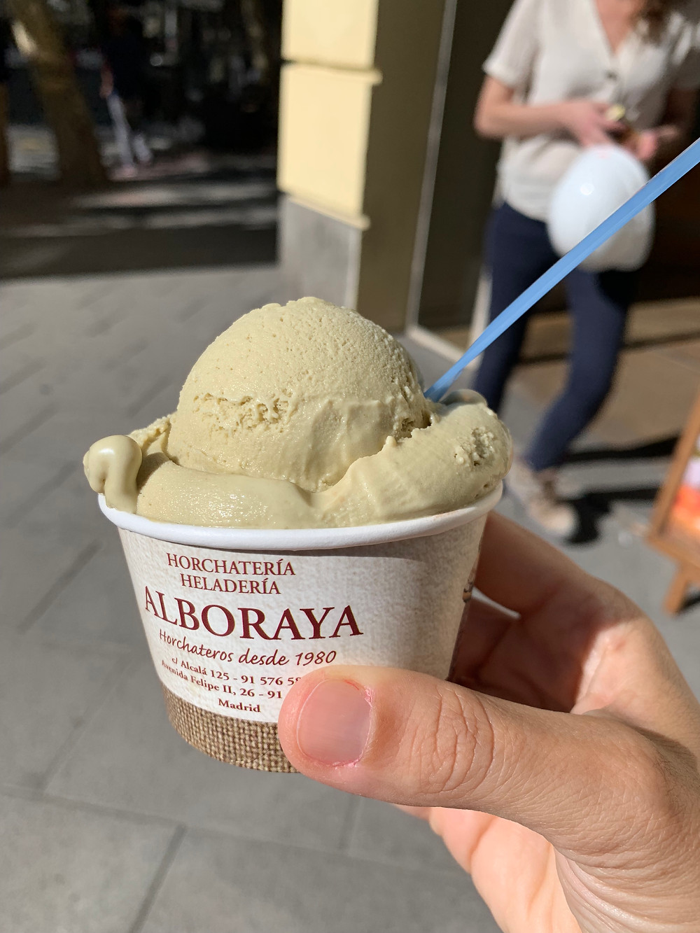 glace pistache Alboraya blog uneparisienneamadrid.com