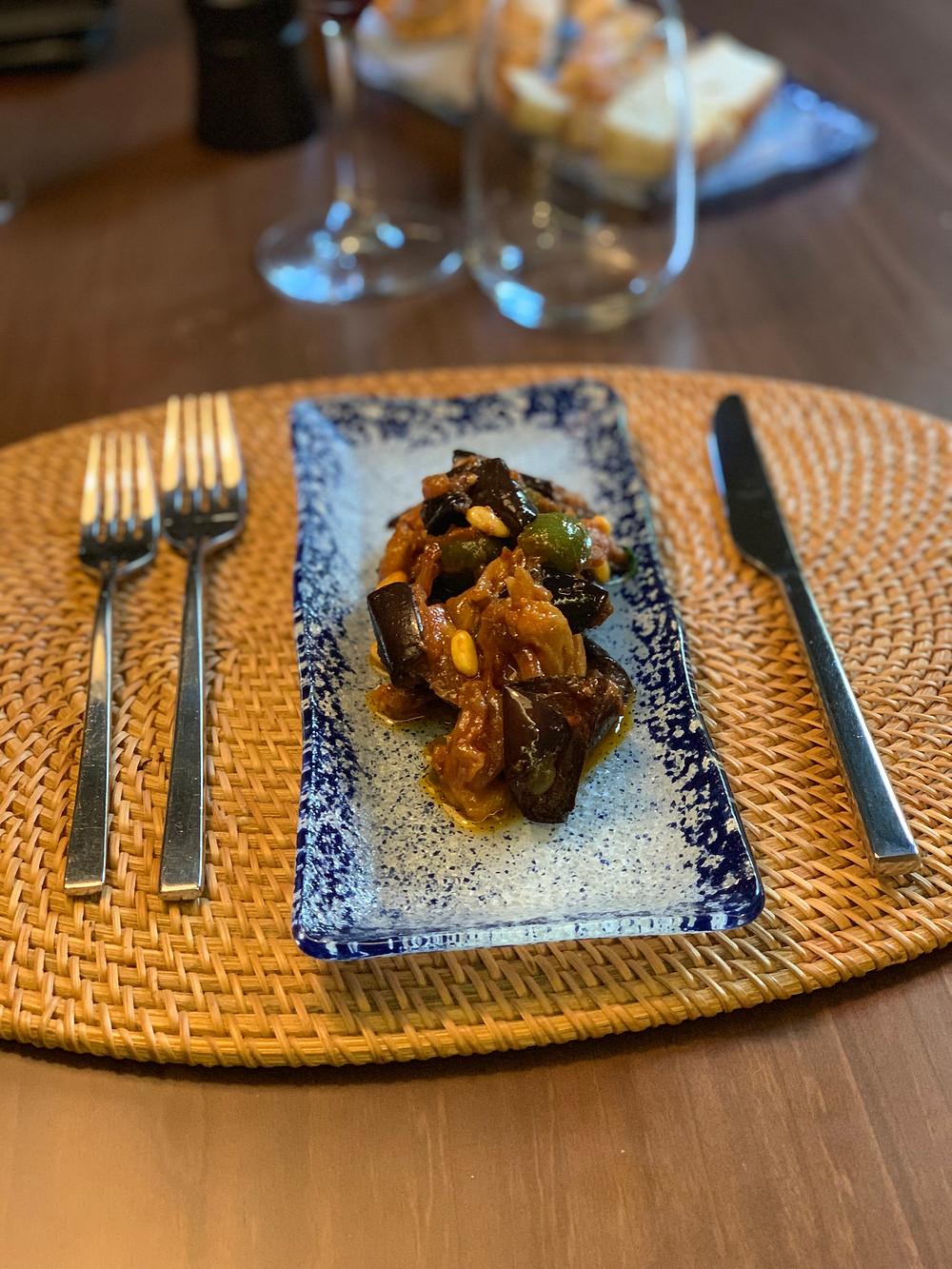 pante restaurant compotée d'aubergines blog uneparisienneamadrid.com