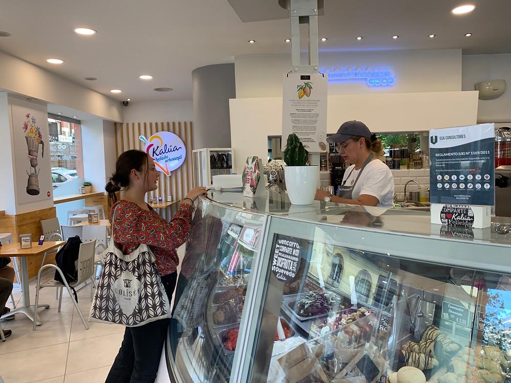 Kalúa helado artesanal. Une parisienne à Madrid