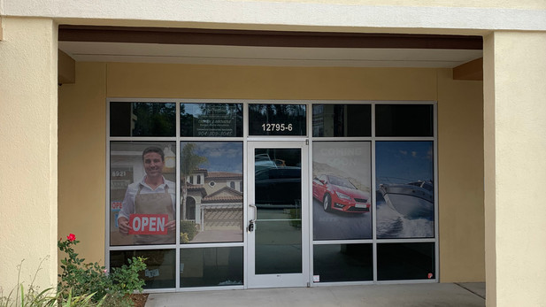 Window Graphics and Overhead Signage