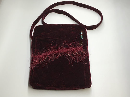 Scarlet Velvet Shoulder Bag