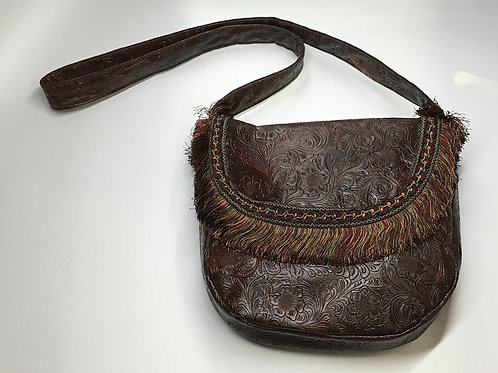 Brown Tooled Large Shoulderbag