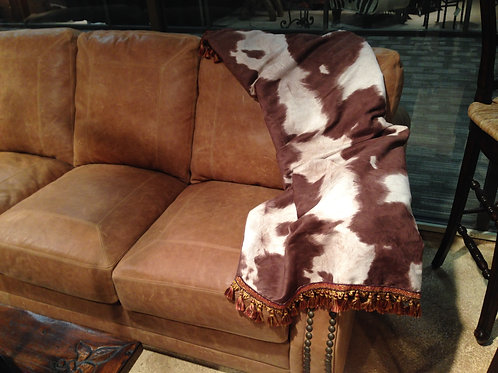 Brown Cowhide Throw