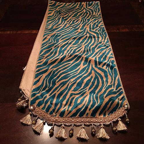 Turquoise Cream Zebra