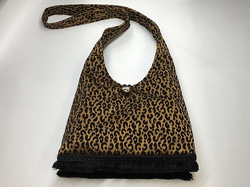 Black Gold Cheetah Hobo