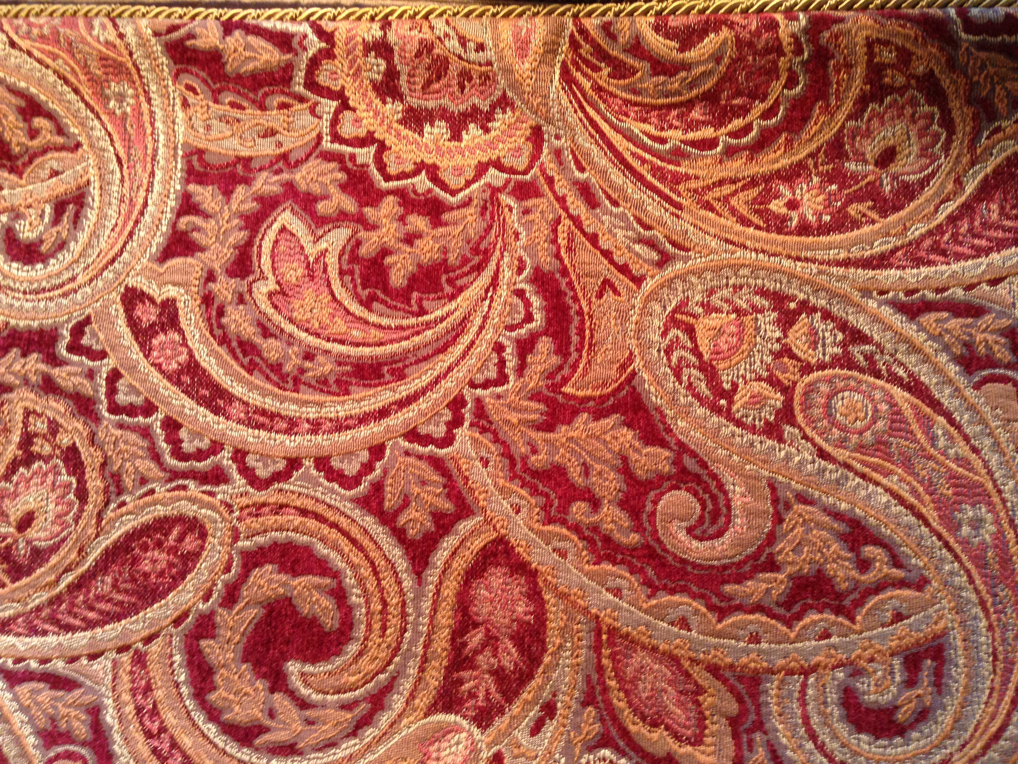 F-22 Red Gold Paisley
