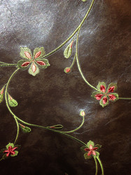 F-36 Brown Floral Fabric